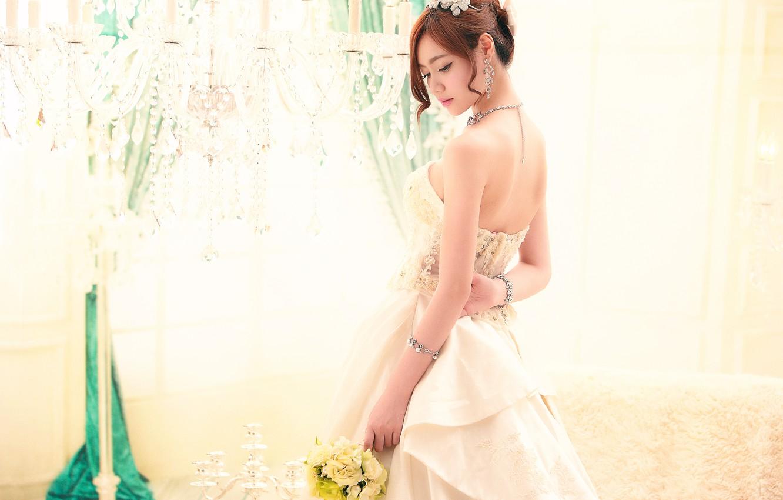 Photo wallpaper style, bouquet, the bride, wedding