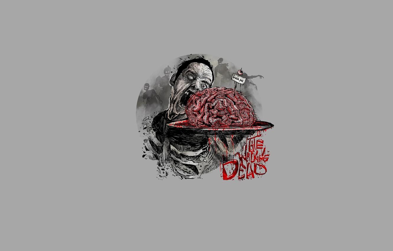 Photo wallpaper zombies, brains, the walking dead, The walking dead