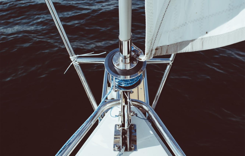 Photo wallpaper sea, yacht, sail, mast, Kiel, feed