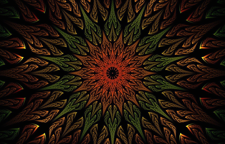 Photo wallpaper flower, rays, pattern, paint, petals, the volume