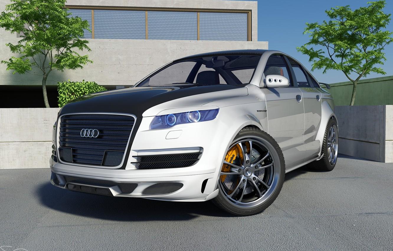 Photo wallpaper Audi, tuning, graphics