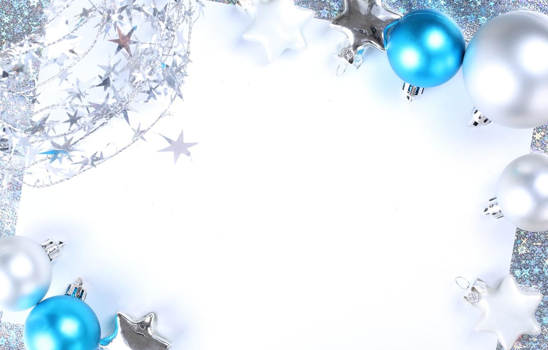Photo wallpaper snow, decoration, balls, New Year, Christmas, Christmas, balls, decoration, Merry