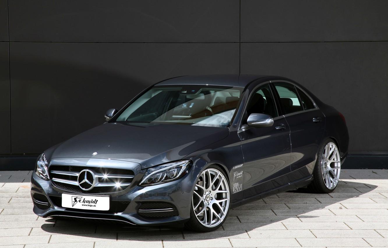 Photo wallpaper Mercedes-Benz, Design, Stance, C-Class, W205, Schmidt Revolution