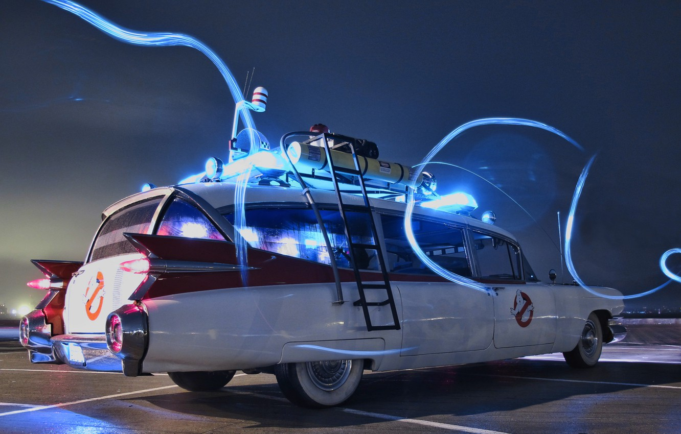 Photo wallpaper Ghostbusters, Ghostbusters, ECTO-1, Cadillac Miller Meteor