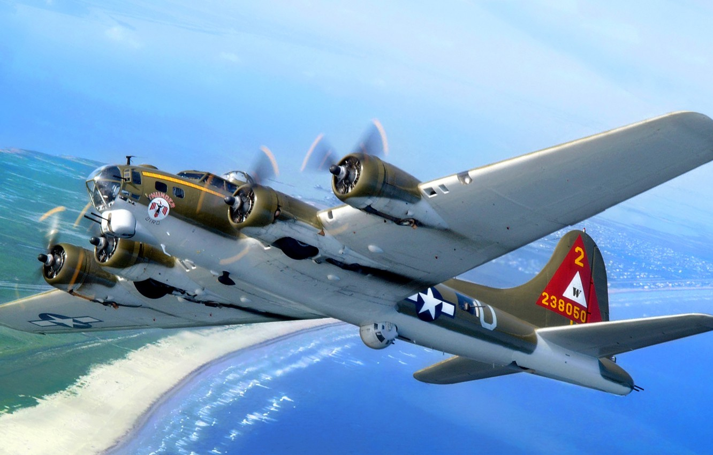 Wallpaper Sea The Sky Coast Bomber B 17 Flying Fortress