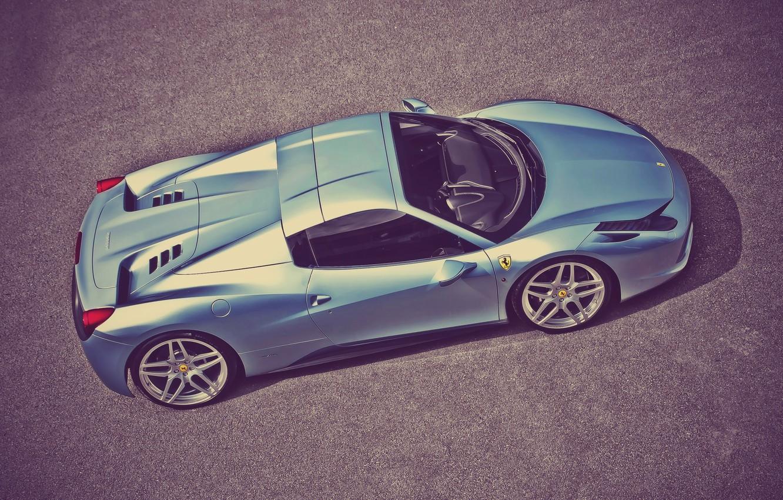 Photo wallpaper Ferrari, 458, Italia, Spider, A Kahn Design, Top View