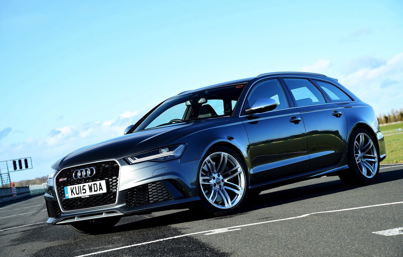 Photo wallpaper Audi, Audi, UK-spec, Before, 2014, RS 6, avant