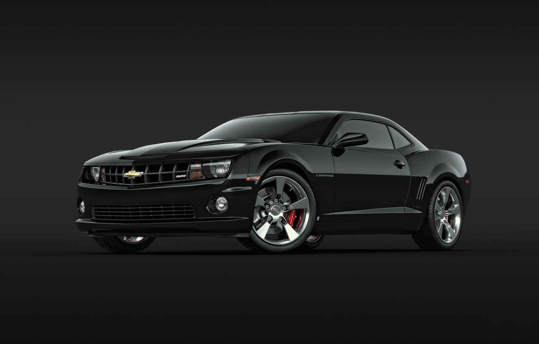Photo wallpaper black, Chevrolet, Camaro