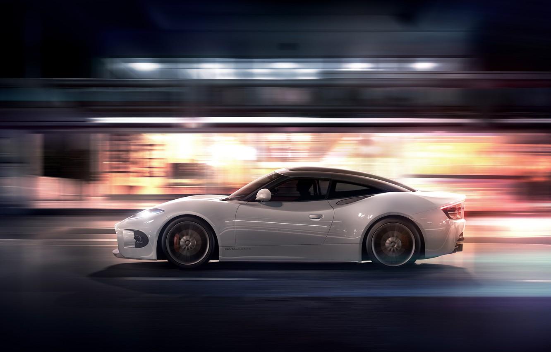 Photo wallpaper Concept, Night, Machine, Speed, Spiker, Desktop, Car, Speed, Wallpapers, 2013, Venator, Spyker B6