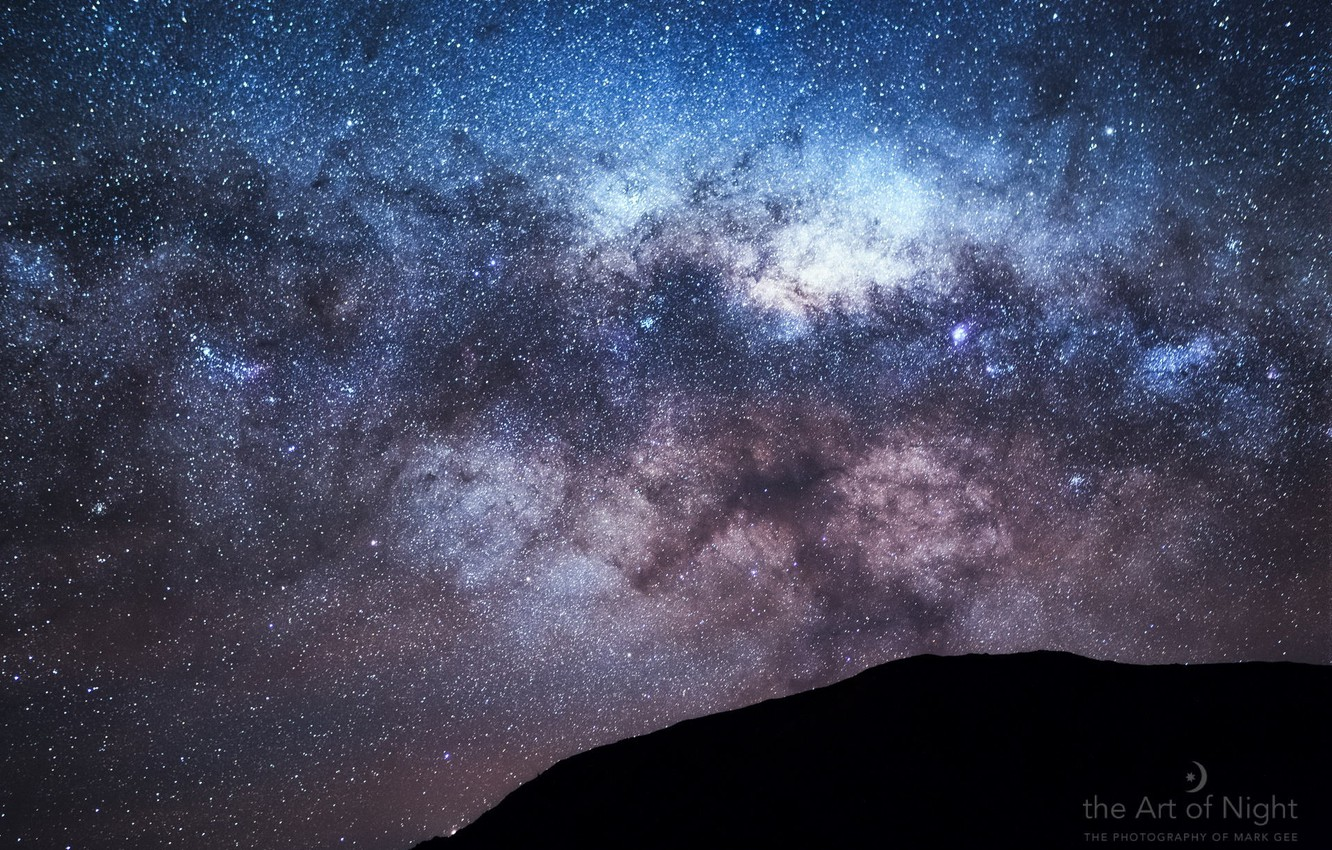 Wallpaper The Sky Stars Mountain The Milky Way Galaxy