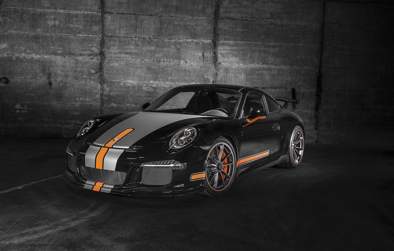 Photo wallpaper coupe, 911, Porsche, black, Porsche, Black, GT3, 2014, TechArt