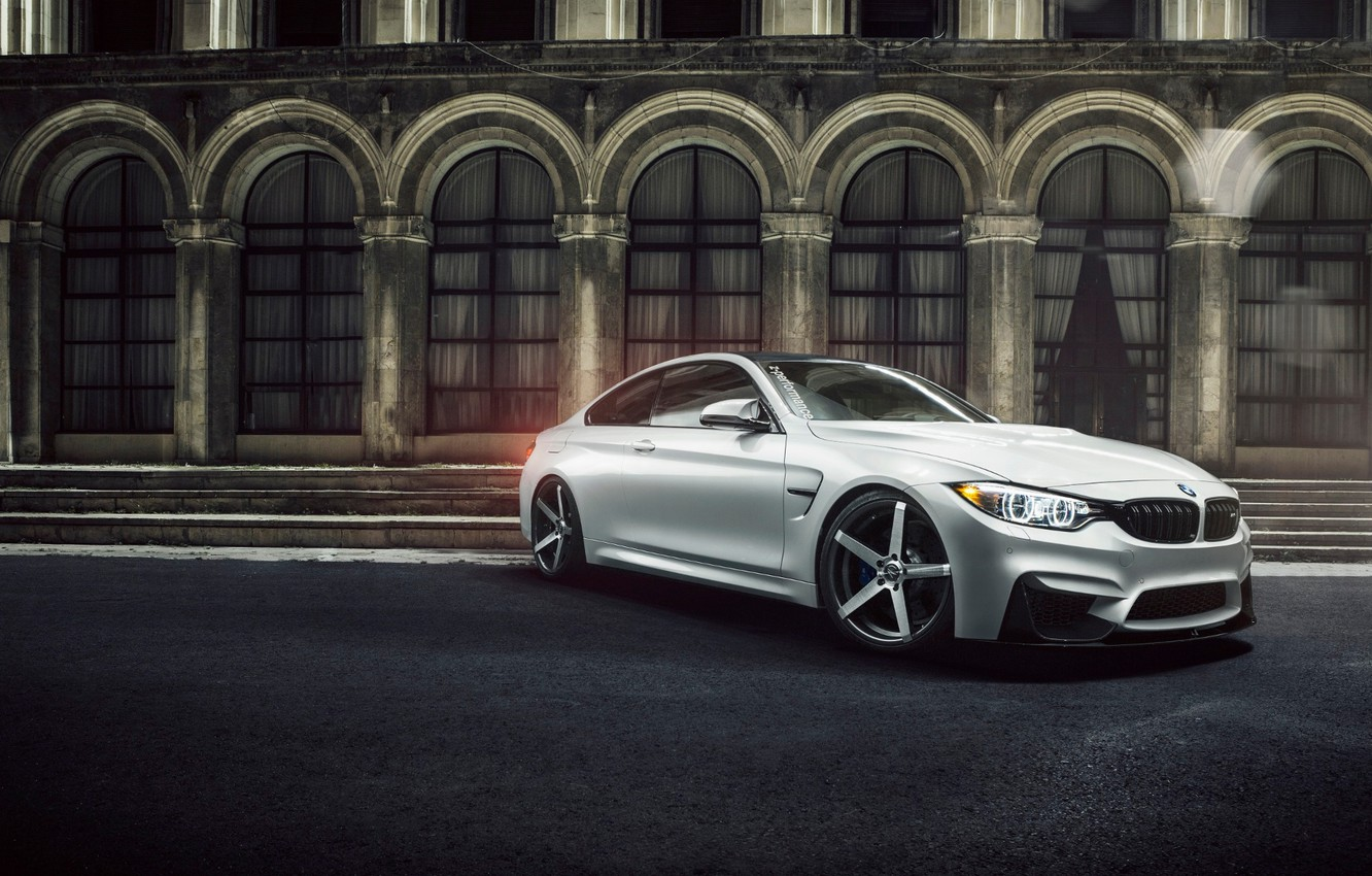 Photo wallpaper white, the building, BMW, BMW, white, Coupe, front, F82, Ciprian Mihai