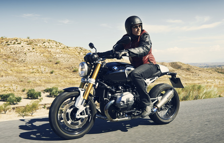 Photo wallpaper BMW, moto, road, design, power, speed, classic, NineT, Roland Sands