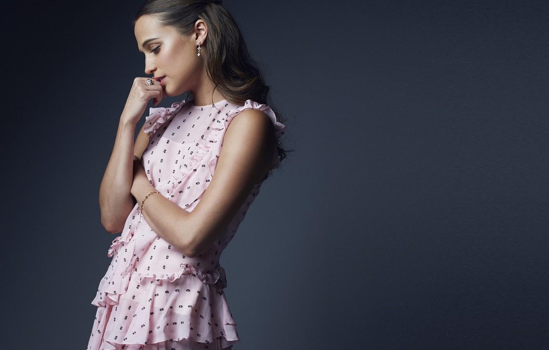 Photo wallpaper girl, model, actress, Photoshoot, 2016, Alicia Vikander, Alicia Vikander, PSIFF