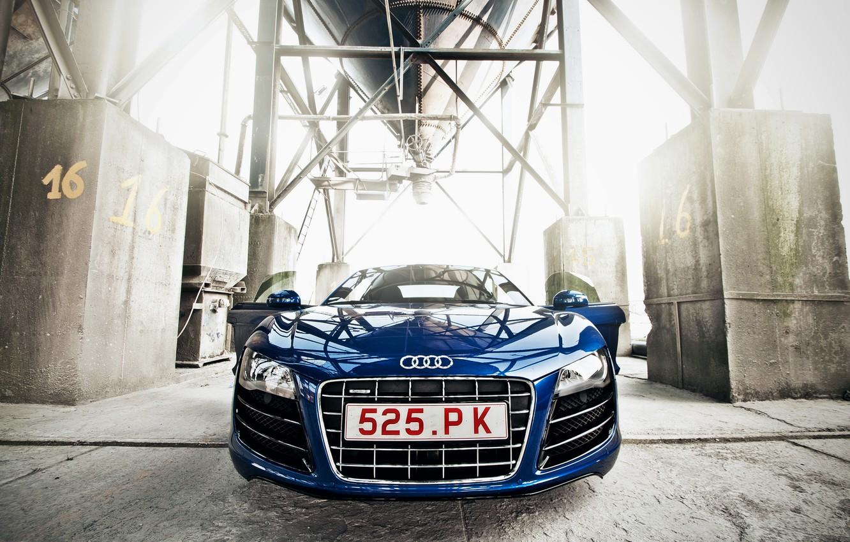 Photo wallpaper Audi, Auto, Machine, Lights, Plant, The front