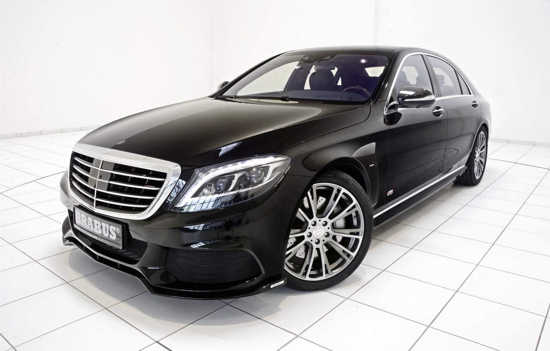 Photo wallpaper black, Mercedes-Benz, Brabus, sedan, Mercedes, Hybrid, BRABUS, hybrid, S-Class, W222, 2015, B50