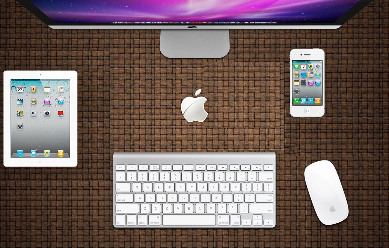 Photo wallpaper apple, iphone, ipad