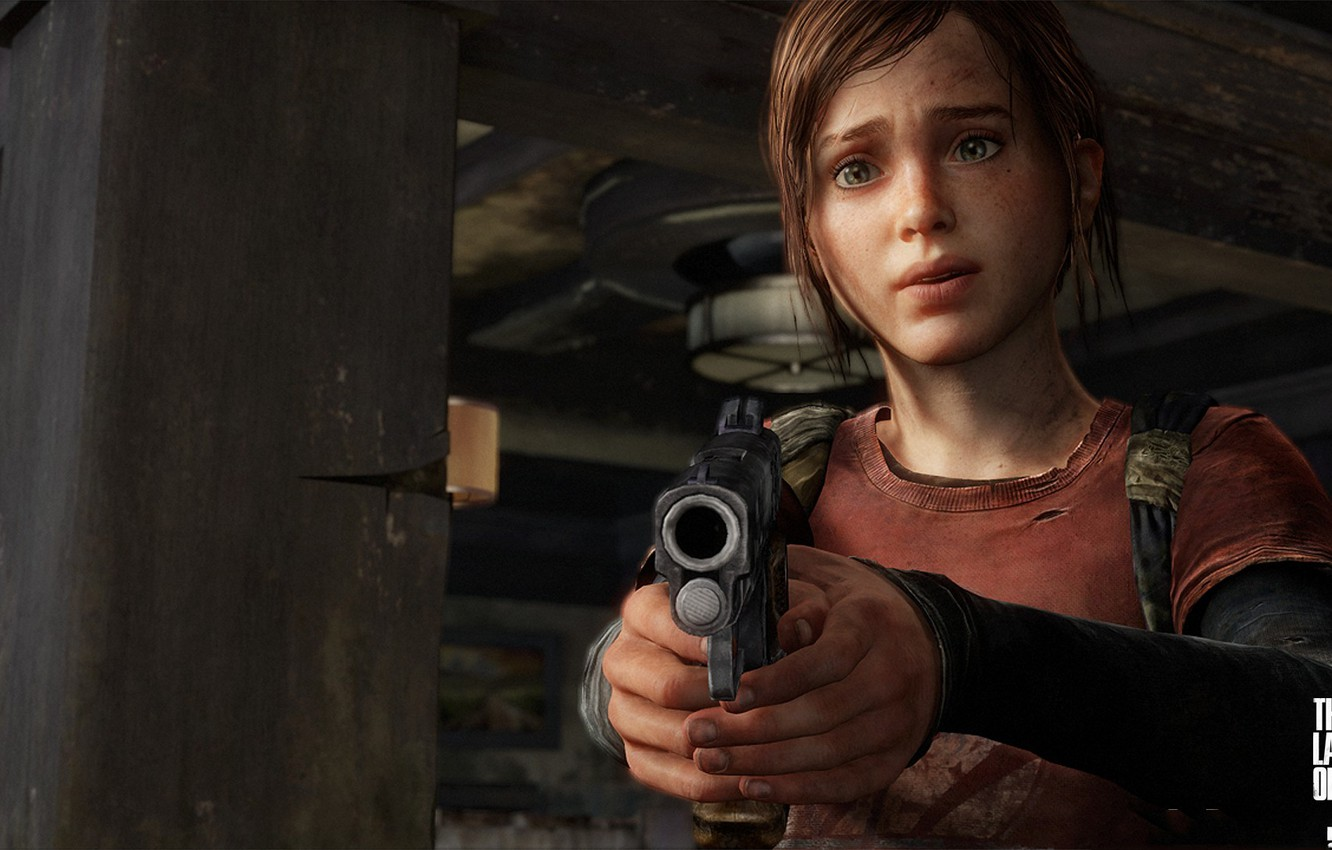 Photo wallpaper girl, gun, weapons, art, The Last of Us, one of us