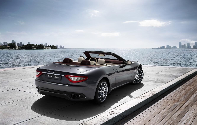 Photo wallpaper sea, Maserati, Italy, convertible, top, back, main, Maserati, main_backtarga