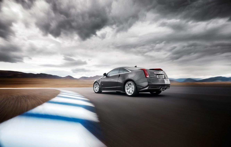 Photo wallpaper road, Cadillac, speed, CTS-V