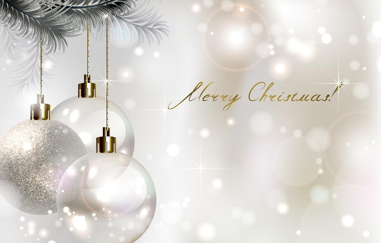 Photo wallpaper balls, tree, Christmas decorations, merry christmas