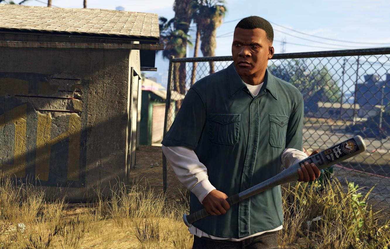 Photo wallpaper weapons, bit, Franklin, Grand Theft Auto V, Los Santos