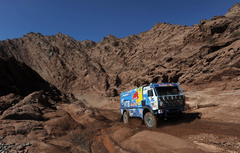 Photo wallpaper auto, Wallpaper, race, sport, mountain, master, cars, auto, wallpapers, KAMAZ, kamaz, Dakar, dakar