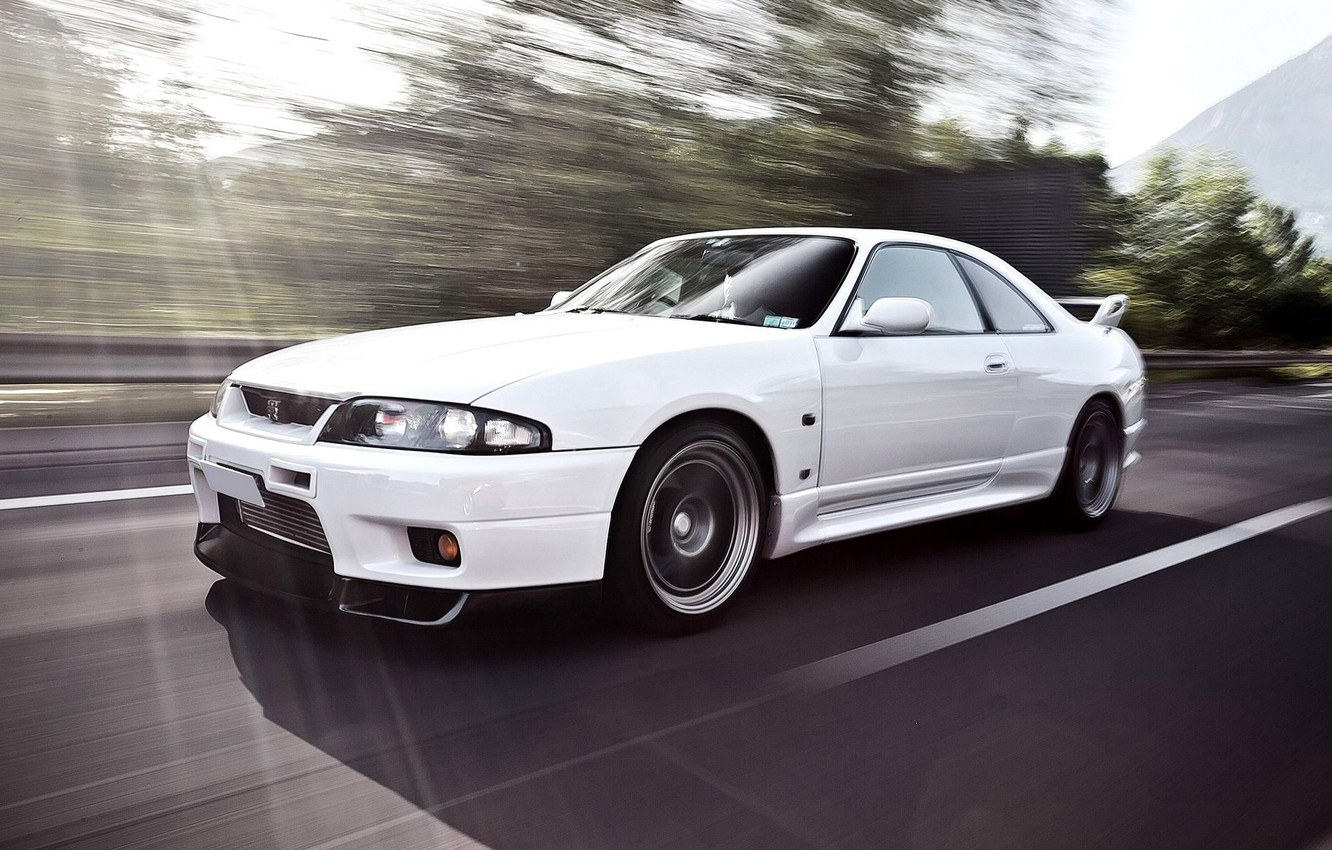 Photo wallpaper Machine, Speed, White, Nissan, Desktop, Japan, Car, Car, Speed, White, Wallpapers, Nissan Skyline, Beautiful, Skyline, ...