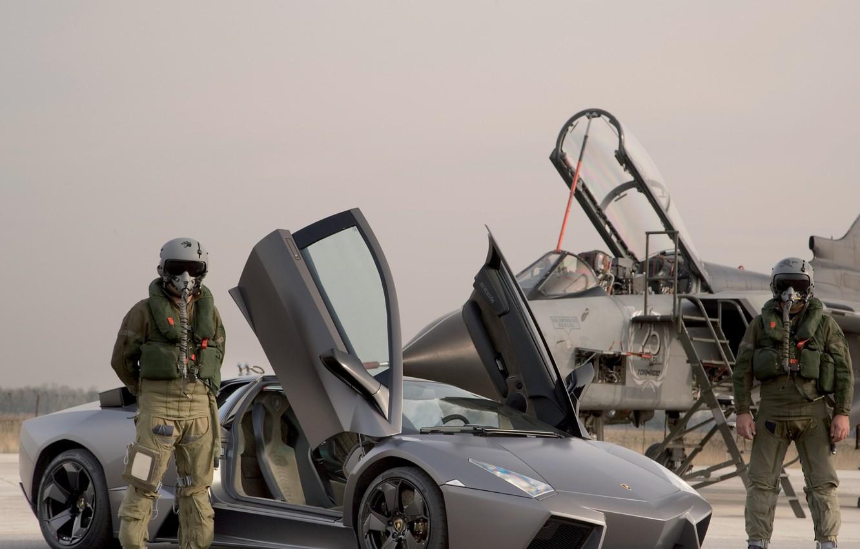 Wallpaper Auto Fighter Costume Pilot Reventon Lamborghini Jet