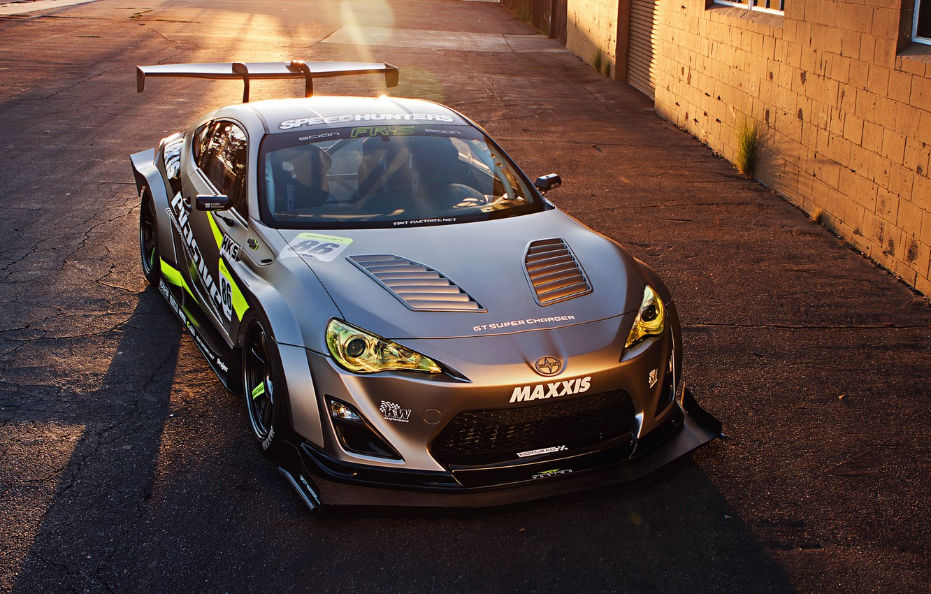 Photo wallpaper Toyota, Tuning, Performance, Sportcar, Spoiler, FR-S, Widebody Kit, Scion, Silver Mate