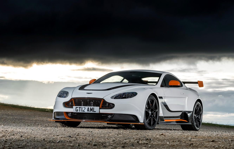 Photo wallpaper Aston Martin, Vantage, Sky, Black, V12, GT12