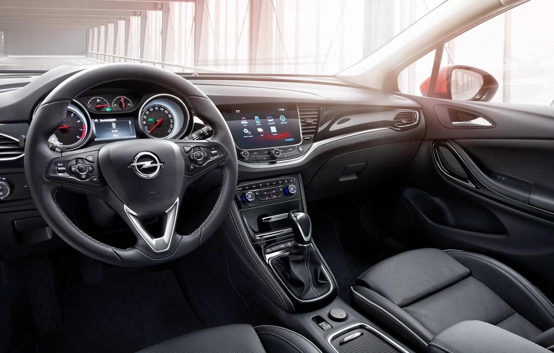 Photo wallpaper interior, the wheel, Opel, Astra, salon, torpedo, Opel, dashboard, Astra, 2015