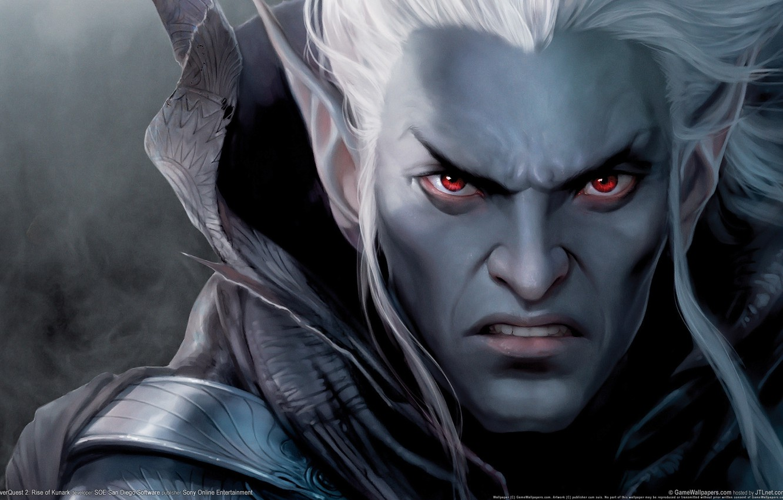Photo wallpaper elf, the game, warrior, drow, EverQuest 2, Rise of Kunark