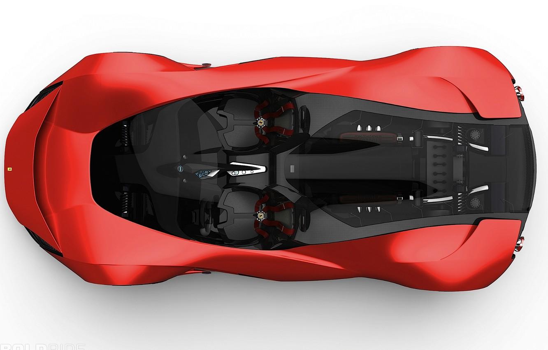 Photo wallpaper concept, red, 1920x1200, candy, ferrari-aliante, black interior