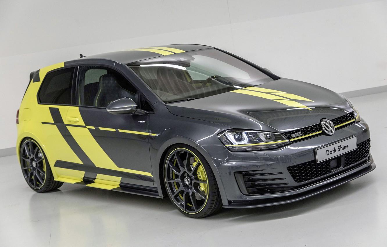 Photo wallpaper Volkswagen, Dark, Golf, GTI, Shine