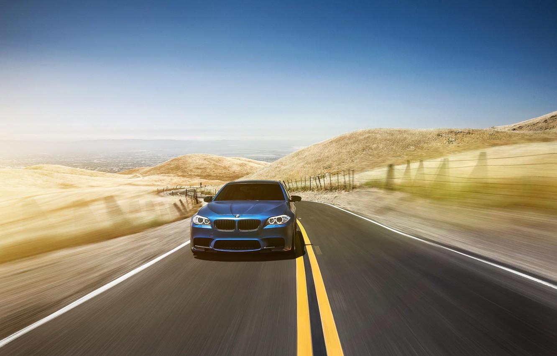 Photo wallpaper BMW, BMW, blue, blue, F10, Aristo Collection, Richard Le
