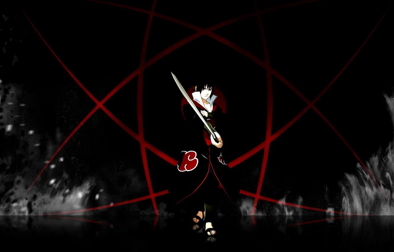 Photo wallpaper Flame, Fire, Sasuke, Sasuke, Naruto, Naruto, Sharingan