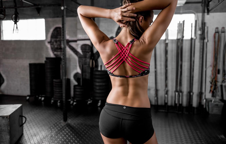 Photo wallpaper style, back, figure, fitness, the gym, Dani