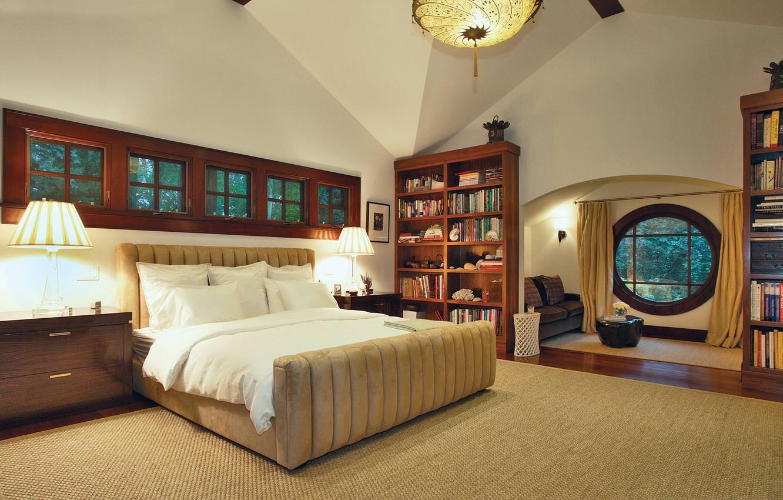 Photo wallpaper design, style, fantastic, interior, villa, large, bedroom, cozy