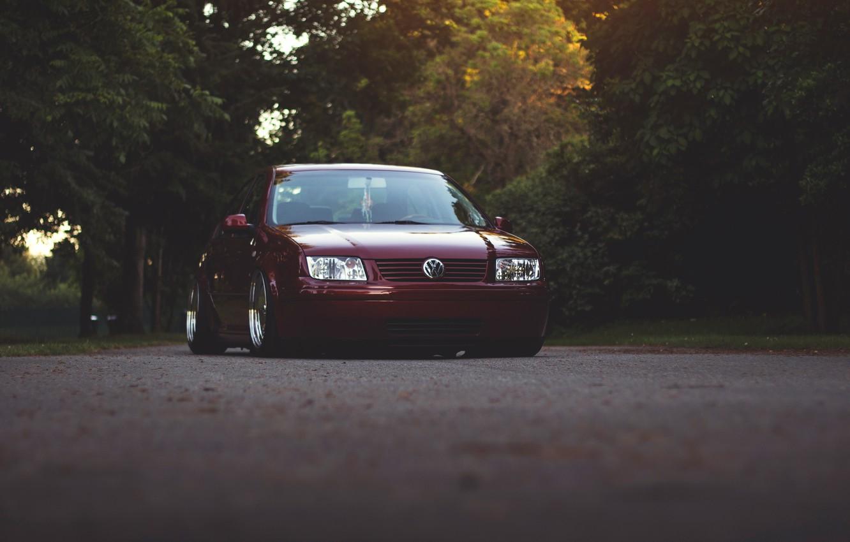 Photo wallpaper road, Volkswagen, Jetta