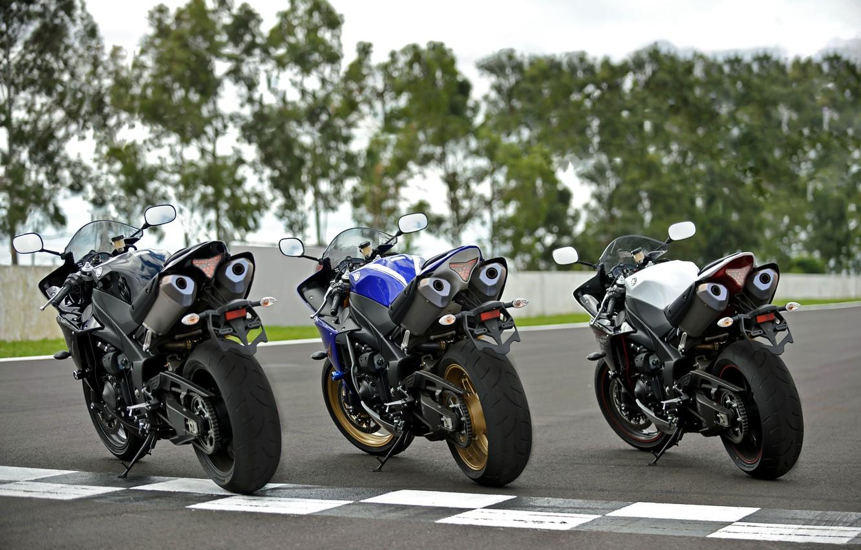 Photo wallpaper sportbike, YZF, Yamaha R1