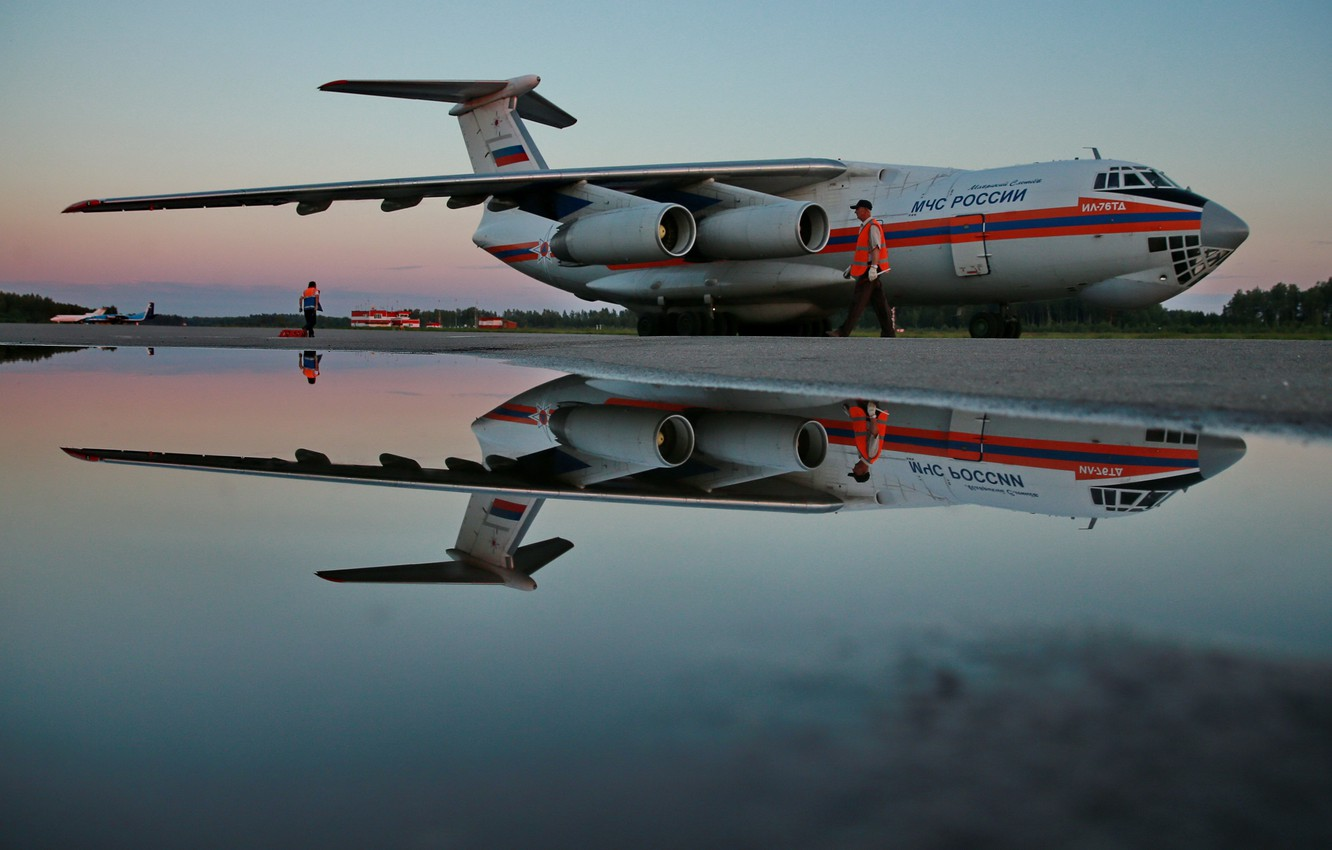 Wallpaper Russia The Plane Moe The Il 76 Cargo Images