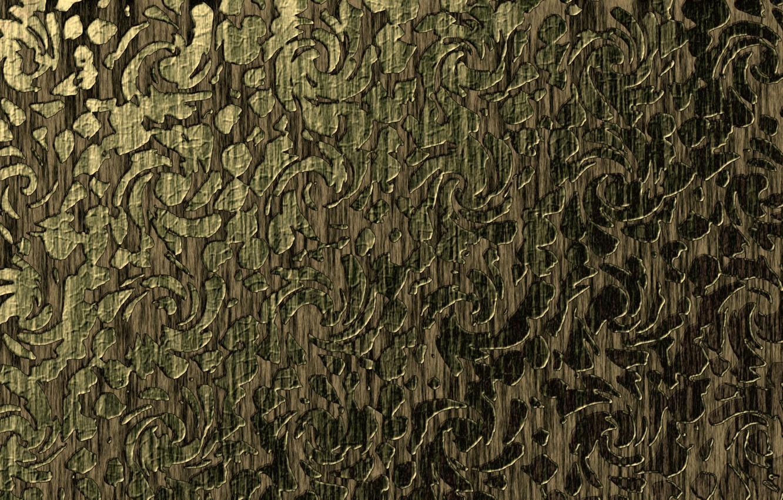 Photo wallpaper pattern, brown, gray-green