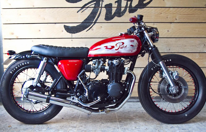 Photo wallpaper honda, motorcycle, cafe racer
