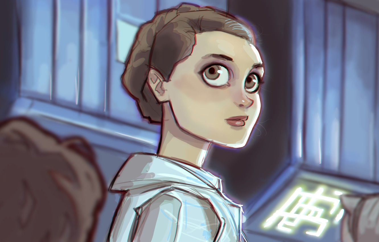 Wallpaper Eyes Look Girl Star Wars Art Leia Leia Organa Princess Leia Images For Desktop Section Filmy Download