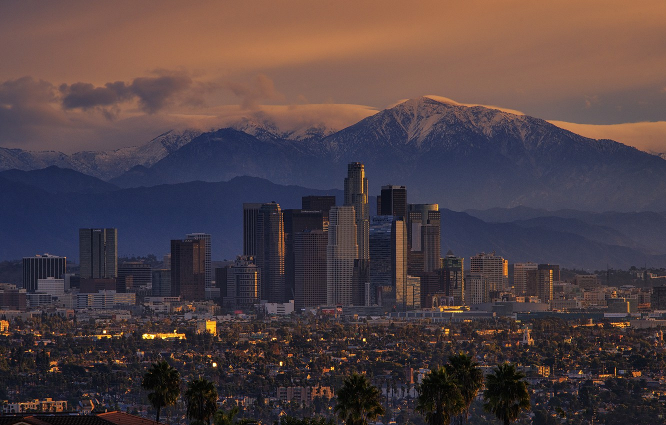 Wallpaper Mountains The City Sunrise Morning Ca Los
