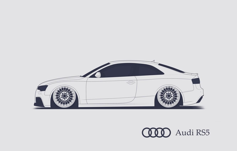 Photo wallpaper Audi, RS5, Minimalistic, SrCky Design