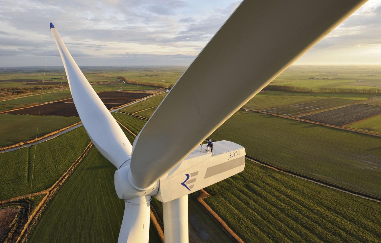 Photo wallpaper height, windmill, blades