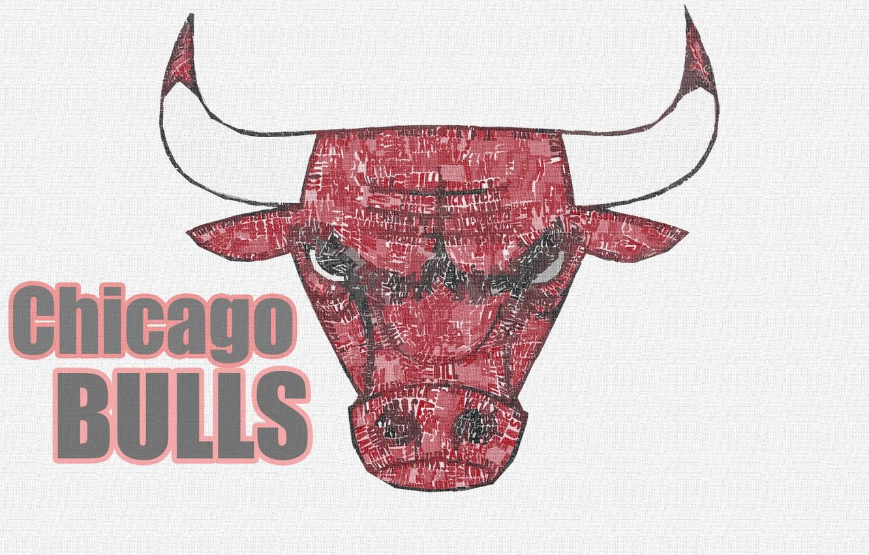 Photo wallpaper Basketball, Background, Logo, NBA, Chicago Bulls, Bulls