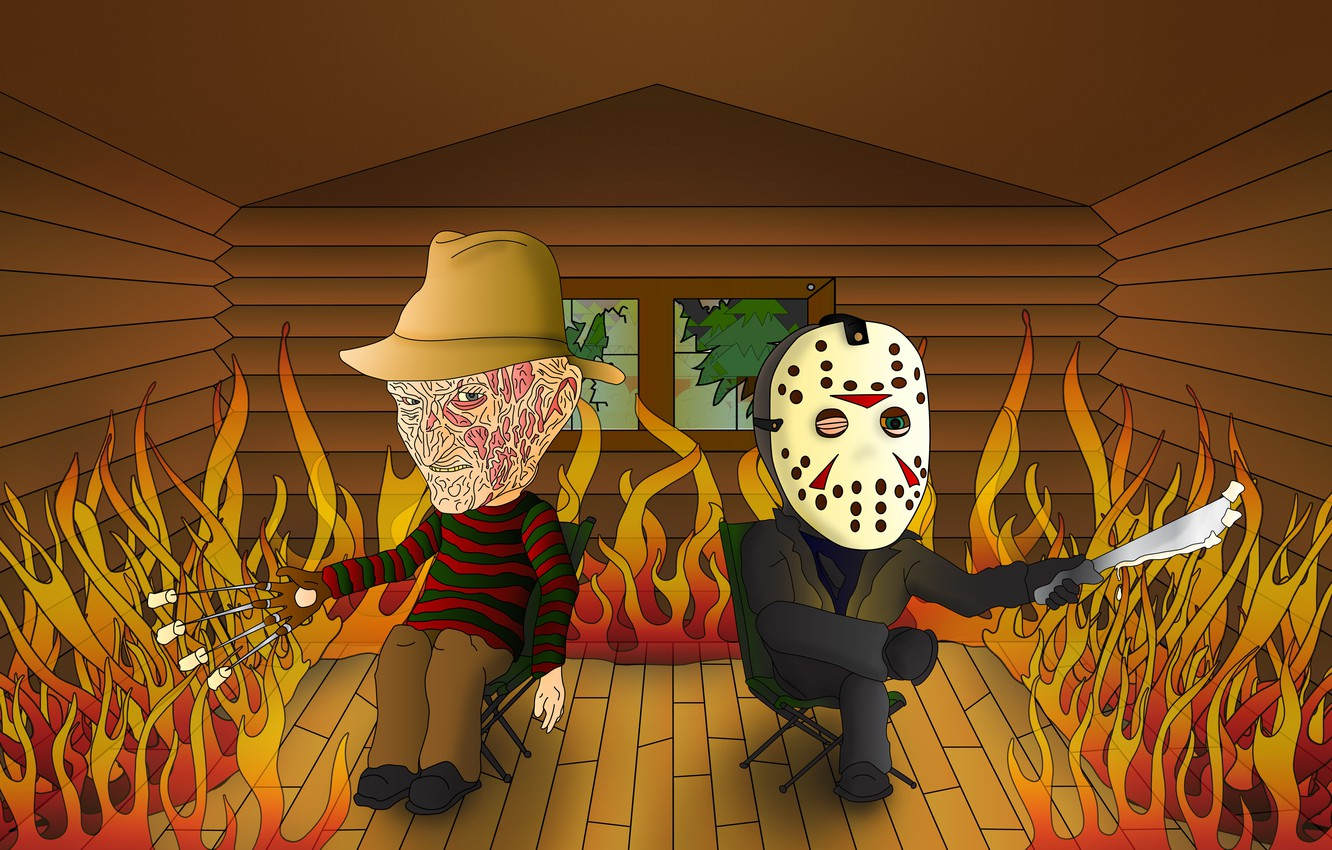 Photo wallpaper house, fire, Friday the 13th, the trick, A nightmare on elm street, A Nightmare on …